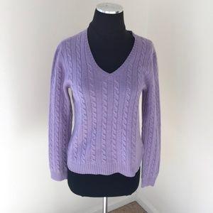 Lauren Ralph Lauren Size M lilac cashmere sweater